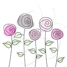 Rose Garden Clipart set - Great for Scrapbooking, Cardmaking and Paper Crafts.Wild Rose Garden Clipart set - Great for Scrapbooking, Cardmaking and Paper Crafts. Art Drawings For Kids, Doodle Drawings, Doodle Art, Pach Aplique, Garden Clipart, Floral Drawing, Paint Cards, Flower Doodles, Watercolor Cards