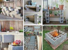Deavita vous présentera 25 idées créatives et faciles à réaliser qui concerne la déco jardin DIY avec bloc béton, donc, profitez-en, afin de l`embellir!