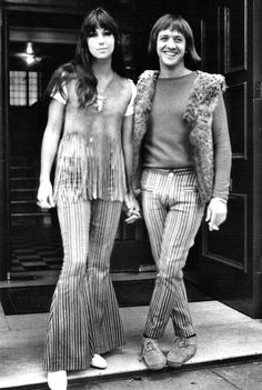 Sonny and Cher on honeymoon in Britain, August 1965.