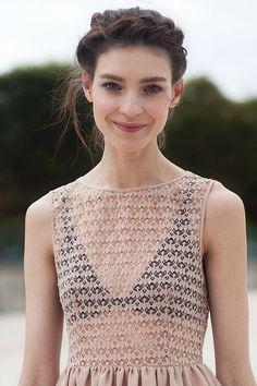 braid and smile; american apparel dress.