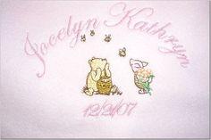 Pooh Eeyore Tigger Piglet Personalized Baby Blanket by Dana Marie Creations $14.50