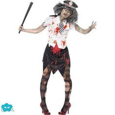 Disfraz de policia zombie para mujer