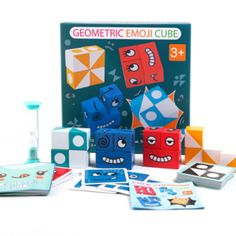 Emoji, Carolina Brito, Screen Time For Kids, Cube Toy, Rubik's Cube, Funny Expressions, Wooden Cubes, Cube Puzzle, Child Face