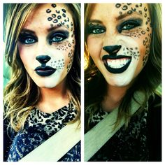 Cheetah make-up for halloween