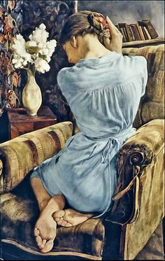 Michael Taylor : Girl with Lilac