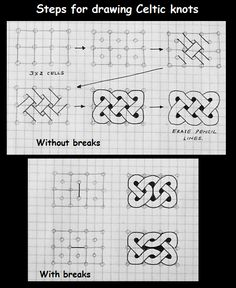 for Celtic knots---Zentangle Celtic Patterns, Doodle Patterns, Zentangle Patterns, Quilt Patterns, Celtic Drawings, Zentangle Drawings, Zentangles, Celtic Knots Drawing, Celtic Symbols