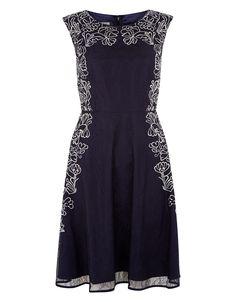 Ottavia Lace Dress | Navy | Monsoon