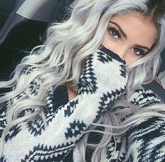 White blonde hair, platinum blonde hair, silver hair, hair color