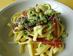 Fettuccine con Asparagi e Prosciutto Crudo