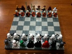 Lego Star Wars Chess! Build your own instructions at:  http://www.gadgetspage.com/toys-games/build-your-own-star-wars-lego-chess-set.html
