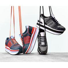 #GiftBuzz - Jill Platform Sneaker   DKNY Soft calf leather Jill platform sneaker. Two toned platform sneaker with mesh detailing. As seen on the runway