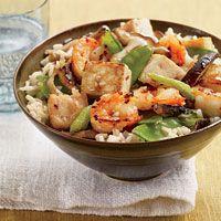 Stir-Fried Tofu and Shrimp