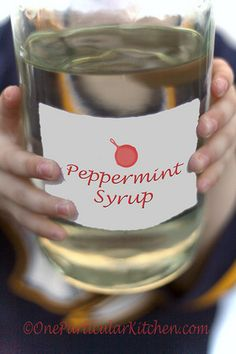 Peppermint syrup recipe for adding to coffees, hot chocolate, or whatever you want :)
