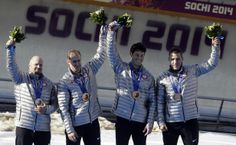 USA men's four-man bobsled, bronze medal 2014