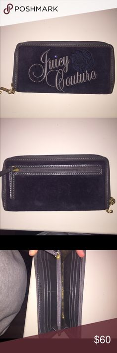 wallet Juicy Couture wallet navy blue and gold. Never used Juicy Couture Bags Wallets