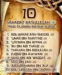 Hasil Gambar Untuk Sepuluh Sahabat Nabi Yang Dijamin Masuk Surga
