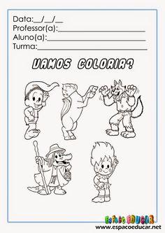 Quem resiste a esta turminha? Eles estão aqui com lindas atividades de colorir para o Folclore!         Clique nas imagens para ampliar ant...