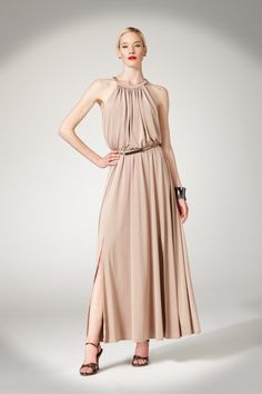 A perfect summer #wedding style. Maggy London, Shiny Jersey Maxi, $148