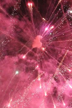 Pink fireworks. Much rather sit looking at pics lol xx