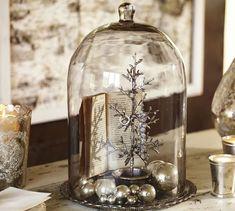 Alston Mercury Glass Tray & Cloche | Pottery Barn