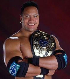 The Rock WWE Intercontinental Heavyweight Wrestling Champion