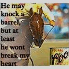 Barrel racing fact :)