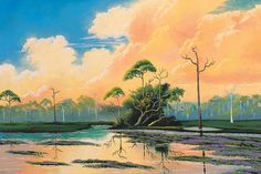 The who's who of The Highwaymen can be tricky. (A curator named Jim Fitch coined the name in the '90s and it stuck.) Gary Monroe, author of The Highwaymen, Florida's African-American Landscape Artists, counts 26 original painters -- 18 of whom are still living. That's how many were inducted into the Florida Artists Hall of Fame in 2004.