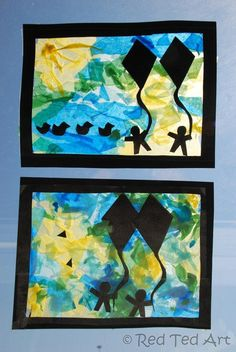 Exploring the Seasons: Summer! Part of our 4 seasons tissue paper craft series