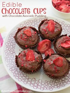 These Edible Chocolate Cups are easy to make and require only one ingredient. Fill them with pudding, ice cream, or fruit for a delicious treat.