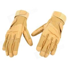 SW3038 Outdoor Windproof Cycling Super Fiber   Nylon Gloves - Sand Color (Pair / Size XL) Price: $12.90