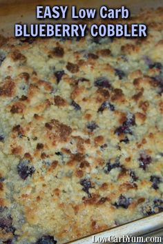 Blueberry season has arrived. This is a really simple low carb blueberry cobbler recipe with a gluten free topping that tastes just like the real thing.