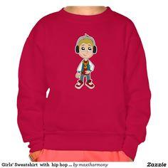 Girls' Sweatshirt  with  hip hop kid cartoon