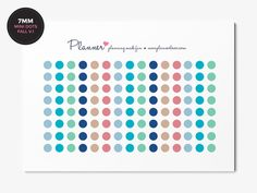 Fall colors - Mini Dots Planner Stickers - Set of 120 7mm circles