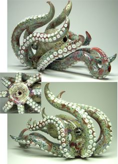 ★Amazing! Hand-Blown glass Octopus Pipe! I want it!