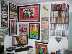 Rare Vintage Punk Poster wall in the Study ( The Masque - Forming - Black Flag - Crime - The Bags - The Dils - The Germs - The Skulls - the Weirdos ) by GennieGoose's Page, via Flickr