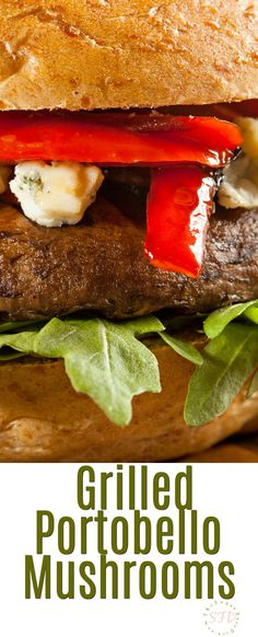 Grilled Portobello Mushroom Burgers- such a great alternative to the usual beef hamburger. Tastes good and looks good!