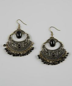 Take a look at this Black Moroccan Earrings by Treska on #zulily today!