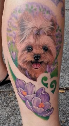 De 8 Coolest Yorkshire Terrier Tattoo Designs In de Wereld