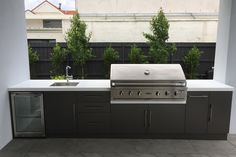 Outdoor Kitchen Brighton - Ideas for the House - Outdoor Kitchen Ideas Outdoor Bbq Kitchen, Backyard Kitchen, Summer Kitchen, Outdoor Kitchen Design, Outdoor Kitchens, Outdoor Cooking Area, Bbq Outdoor Area, Outdoor Barbeque, Outdoor Kitchen Cabinets