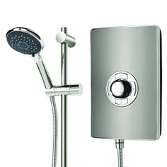 A talking point for any bathroom with Gun Metal effect and satin looks Electric Showers, Loft Bathroom, Easy To Use, Guns, Ebay, Cool Stuff, Design, Monochrome, Steel