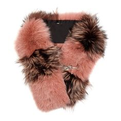 Fendi Bi-colour fox-fur scarf (26.705 HRK) ❤ liked on Polyvore featuring accessories, scarves, pink multi, fendi scarves, fox fur shawl, fox fur scarves, pink shawl and fendi