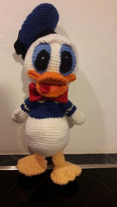 Donald Duck gehäkelt
