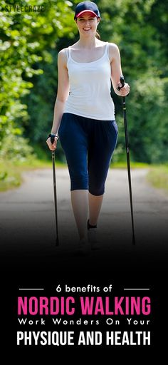 Did you ever hear about Nordic walking? If you didn't, you've got to learn about it. This post lets you know the amazing Nordic walking benefits, read on to know Nordic Walking, Benefits Of Walking Daily, Fitness Tips, Health Fitness, Power Walking, Health Tips, Women's Health, Aerobics, Get Healthy
