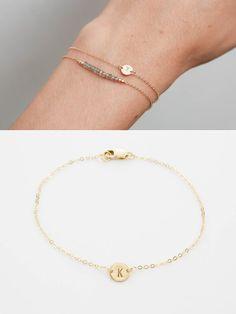 Super Dainty Initial Bracelet Delicate von LayeredAndLong auf Etsy