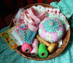 Granny's Sewing Basket by She'sSewPretty, via Flickr