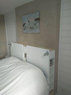 Magnifique tête de lit IKEA avec rangements en DIY  #gnedby #ikea #LINNMON #rangement #têtedelit