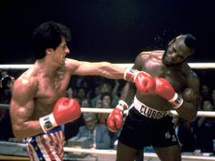 """""""Rocky III"""" with Sylvester Stallone, Talia Shire, Mr. T, Hulk Hogan, and Carl Weathers Rocky Balboa, Rocky Sylvester Stallone, Rocky Stallone, Rocky Ii, Rocky Legends, Boxe Fight, Rocky Series, Tv Series, Training Montage"""