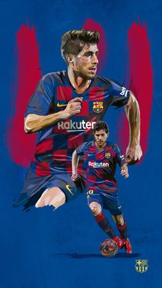 FC Barcelona (from 🏠) ( Fc Barcelona, Barcelona Futbol Club, Barcelona Football, Soccer Players, Football Team, Football Stuff, Sergi Roberto, Soccer Art, Football Wallpaper