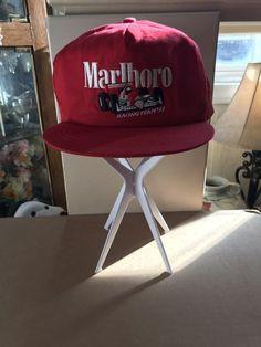4b4319ce1e9 Vintage Marlboro Racing Team  92 Indy Car Red Snapback Baseball Cap Trucker  Hat