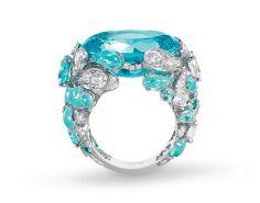 """Chaumet """"Lumière d'eau"""" collection, """"Une Ile sous les alizées"""" ring, aquamarines, Paraiba tourmalines, diamonds"""